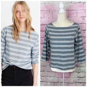 Madewell herald chambray striped top S